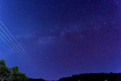 Les étoiles de la voie laiteuse Image libre de droits