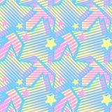 Les étoiles impriment, modèle expressif d'encre de métier sans couture de main illustration de vecteur
