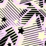 Les étoiles impriment, modèle expressif d'encre de métier sans couture de main illustration stock