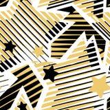 Les étoiles impriment, modèle expressif d'encre de métier sans couture de main illustration libre de droits