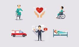 Les événements d'assurés de protection sanitaire, d'assurance et de risque dirigent l'illustration illustration libre de droits