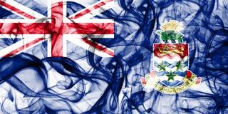 Les Îles Caïman fument le drapeau, territoires d'outre-mer britanniques, drapeau de territoire non autonome de la Grande-Bretagne photo stock