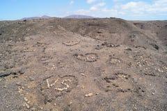 Les Îles Canaries de Jandia Fuerteventura Espagne Image stock