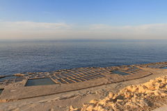 les Îles Canaries Lanzarote filtrent le sel Espagne Photographie stock libre de droits