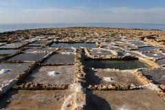 les Îles Canaries Lanzarote filtrent le sel Espagne Images stock