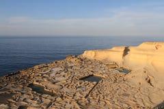 les Îles Canaries Lanzarote filtrent le sel Espagne Photo libre de droits