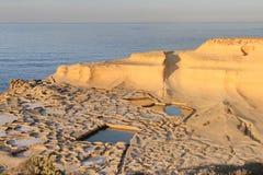 les Îles Canaries Lanzarote filtrent le sel Espagne Image stock