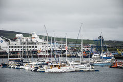 Les Îles d'Orkney Ecosse R-U 18 de Kirkwall de port de bateau de bateaux 05 2016 images libres de droits