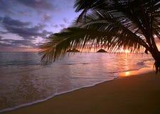 Les îles de mokulua outre du lanikai échouent, Oahu images stock
