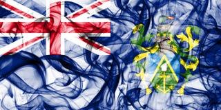 Les îles de Pitcairn fument le drapeau, territoires d'outre-mer britanniques, drapeau de territoire non autonome de la Grande-Bre images stock