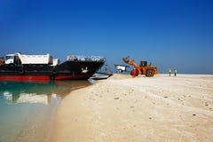 Les îles du monde dans le projet non fini de Dubaï Photographie stock libre de droits