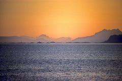 les îles lofoten la Norvège Photo stock