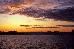 les îles lofoten la Norvège Image stock