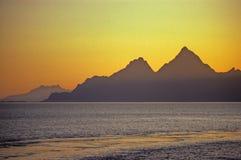 les îles lofoten la Norvège Photos libres de droits