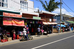 Les Îles Maurice, village pittoresque de Goodlands photographie stock libre de droits