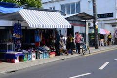 Les Îles Maurice, village pittoresque de Goodlands Photo stock