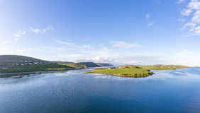 Les Îles Shetland Scalloway Photos stock