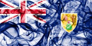 Les Îles Turques et Caïques fument le drapeau, territoires d'outre-mer britanniques, drapeau de territoire non autonome de la Gra image libre de droits
