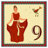 Les 12 jours de Noël Photos libres de droits