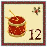 Les 12 jours de Noël Photographie stock libre de droits