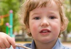 Les 3 années de garçon Image libre de droits
