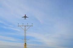 Les aéronefs décollent Photos stock