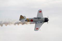 Les aéronefs de la deuxième guerre mondiale reconstituent l'attaque de Pearl Harbor Image libre de droits