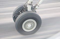 Les aéronefs roulent dedans le mouvement Image stock