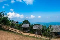 Les abris de hutte pour des vues lundi bloquent, Chiang Mai, Thaïlande Photos libres de droits