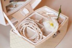Les accessoires d'une jeune mariée Images libres de droits