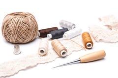 Les accessoires de couture Images stock
