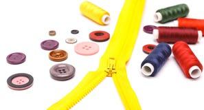 Les accessoires de couture Photographie stock