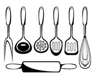 Les accessoires de cuisine Photo libre de droits