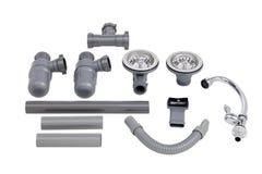 Les accessoires de l'évier de cuisine Image stock