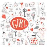 Les accessoires de la fille Images libres de droits