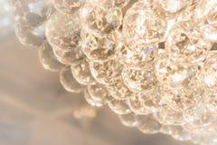 Les accessoires de scintillement de boule en verre de la lampe Image stock