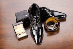 Les accessoires des hommes photographie stock