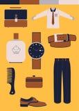 Les accessoires des hommes Photo stock