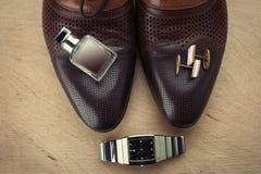Les accessoires des hommes Image libre de droits
