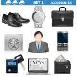 Les accessoires masculins de vecteur ont placé 1 Photo stock