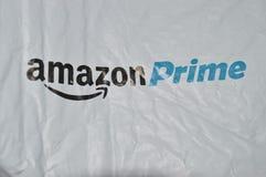 les achats stockent le logo avec le paquet Images libres de droits