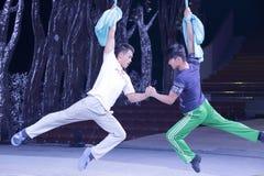 Les acrobates préparent Photo libre de droits