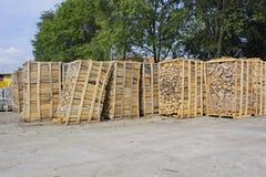 Les actions embarquent le bois de chauffage Images stock