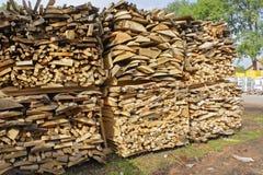 Les actions embarquent le bois de chauffage Image stock