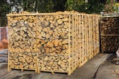 Les actions embarquent le bois de chauffage Photos stock