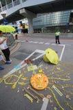 Les activistes 2015 de Hong Kong marchent en avant du vote sur le paquet électoral Photos stock