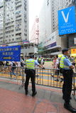 Les activistes 2015 de Hong Kong marchent en avant du vote sur le paquet électoral Photos libres de droits