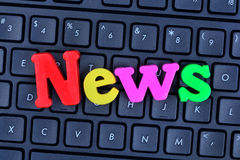 Les actualités de mot sur le clavier d'ordinateur Photo libre de droits