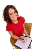 Les affaires auxiliaires préparent pour prendre les notes ou la dictée Photographie stock libre de droits