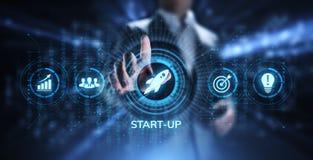 Les affaires commencent des affaires d'investissement d'entreprise et le concept de d?veloppement images libres de droits